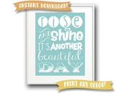 Printable in ANY COLOR - Instant Download - Rise and Shine - For Nursery/Baby/Kid's Room - DIY Printable Art
