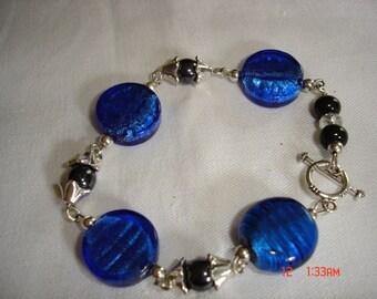 Blue Disc Delight Bracelet