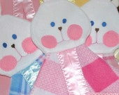 Pink Plaid Fisher Price Bunny Lovey Replica