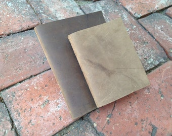 Leather Journal/ Leather Notebook-  Leather bound Journal, the Pascale II