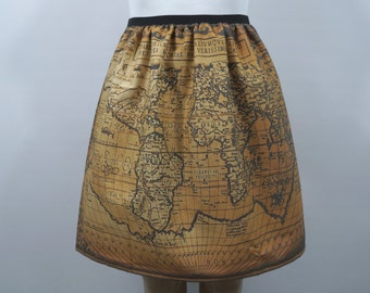 Antique map skirt - made to order