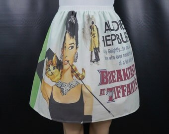 Breakfast at Tiffany's inspired skirt - Audrey Hepburn - made to order