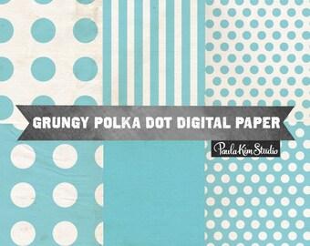 80% OFF SALE Blue Digital Paper Pack, Digital Scrapbook Paper Backgrounds, Commercial Use