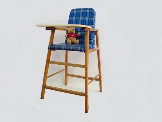 Vintage Toddler High Chair With Tray