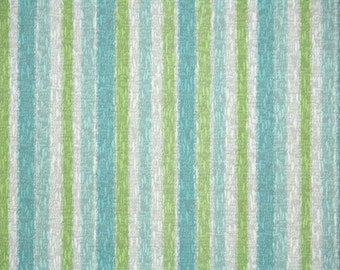 Retro Wallpaper by the Yard 70s Vintage Wallpaper - 1970s Green Blue and White Stripe