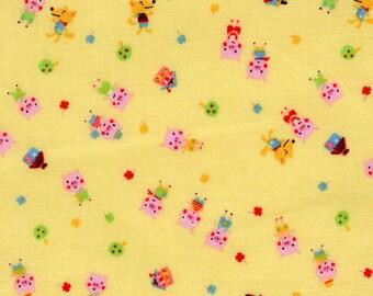 Minny Muu by Lecien - Three Little Pigs in Yellow