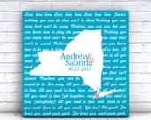 """Song Lyrics On Canvas Song Lyric Canvas Art  CanvasGallery Wrapped 24""""x 24"""" Our Song Wedding Gift Engagement Gift State Map Canvas Lyric Art"""
