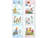 Fabric Panel Growth Chart/Sprout and Spell Retro and Sprout and Spell Garden by Robert Kaufman/Girls/Boys/Nursery Decor/Wall Decor