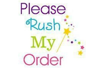 RUSH ORDER Option - Add this to any Monogram Cake Topper Order