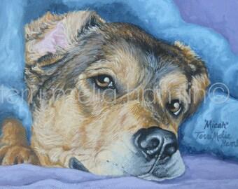 Dog Portrait, 8x10 Pet Portrait, Custom Painted Pet Portrait, Personalized Pet Portrait, Custom Dog Portrait