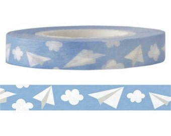 Paper Plane Washi Tape (8mm X 15M)