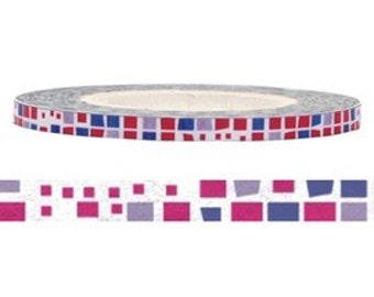 Pink & Blue Washi Tape (3mm X 15M)
