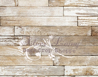 NEW ITEM 3.5 x 4ft Vinyl Photography Backdrop / Chalky Wood 100