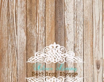 6'x5' BACKDROP Photography Floor Drop Backdrop Chalky Barnwood / Photo Prop