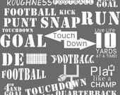 INSTANT DOWNLOAD : Football Word Art Brushes for Photoshop CS and Elements