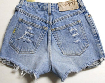 Vintage 80's high Waisted Shorts Waist 24 inches