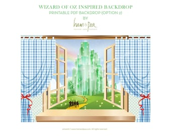 Wizard of Oz inspired backdrop (option 2) PDF file