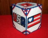 Patriotic Tissue Box Covers