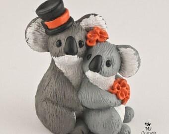Koalas Wedding Cake Topper Bride and Groom