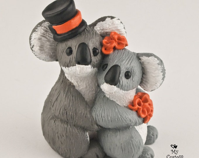 Koalas Wedding Cake Topper Bride and Groom