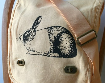 Rabbit Field Bag Canvas Screen Printed