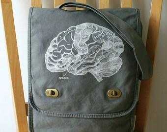 Brain Canvas Field Bag