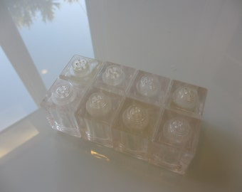 Vintage Lucite Salt and Pepper Shakers set of 8