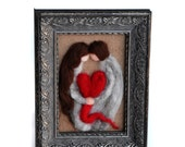 Valentines Decor - Valentines Husband - Valentines Wife - Valentines Felted