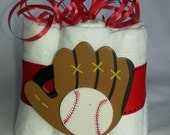 Baseball/Glove Mini diaper cake, great decoration, baby shower or new baby gift.