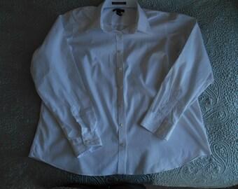 XL white cotton women's shirt by Lands End US 20 W, UK 24 excellent condition
