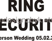 personalized Wedding Ring Security iron-on shirt decal transfer NEW