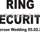 personalized Wedding Ring Security iron-on shirt decal transfer for dark fabric