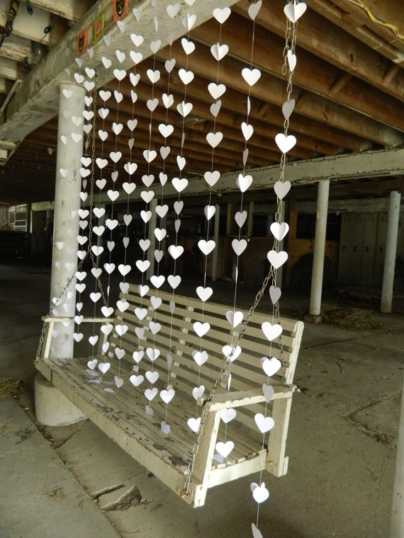 Wedding Curtain Paper Heart Garland
