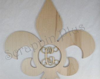 Fleur De Lis with Laser Cut Insert - lily flower, flower of the lily, french lily flower