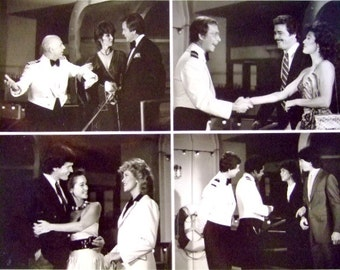 Vintage 1980's Publicity Photo from The Love Boat, Classic ABC TV Sitcom, Famous Guest Stars, Pacific Princess, Gift for Her, Christmas