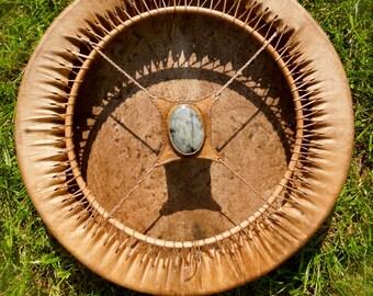 Red deer skin drum - 18 inch