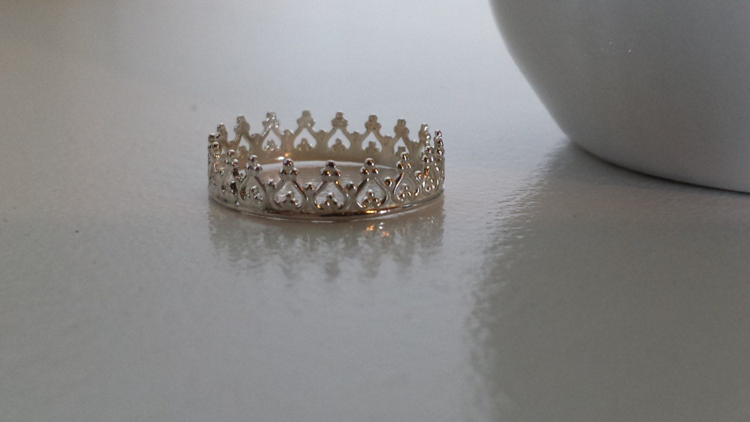 crown ring sterling silver princess royalty