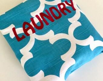 Large Monogrammed  Laundry Bag Tote College Dorm Summer Camp Duffle Bag with Shoulder Strap Monogrammed