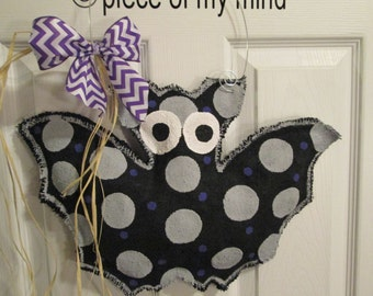 Burlap Bat Decoration for Halloween Burlap Door Hanger