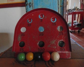 vintage game with balls