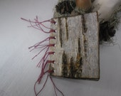 Faery Fae Minature Book- fairy faerys birch tree witch wicca pagan door pendant books woodland