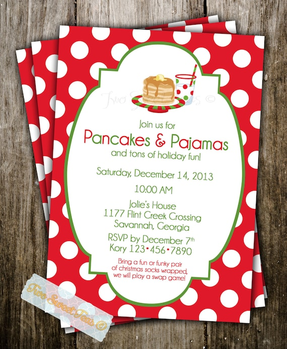 Printable Cookie Exchange Invitations with adorable invitations sample