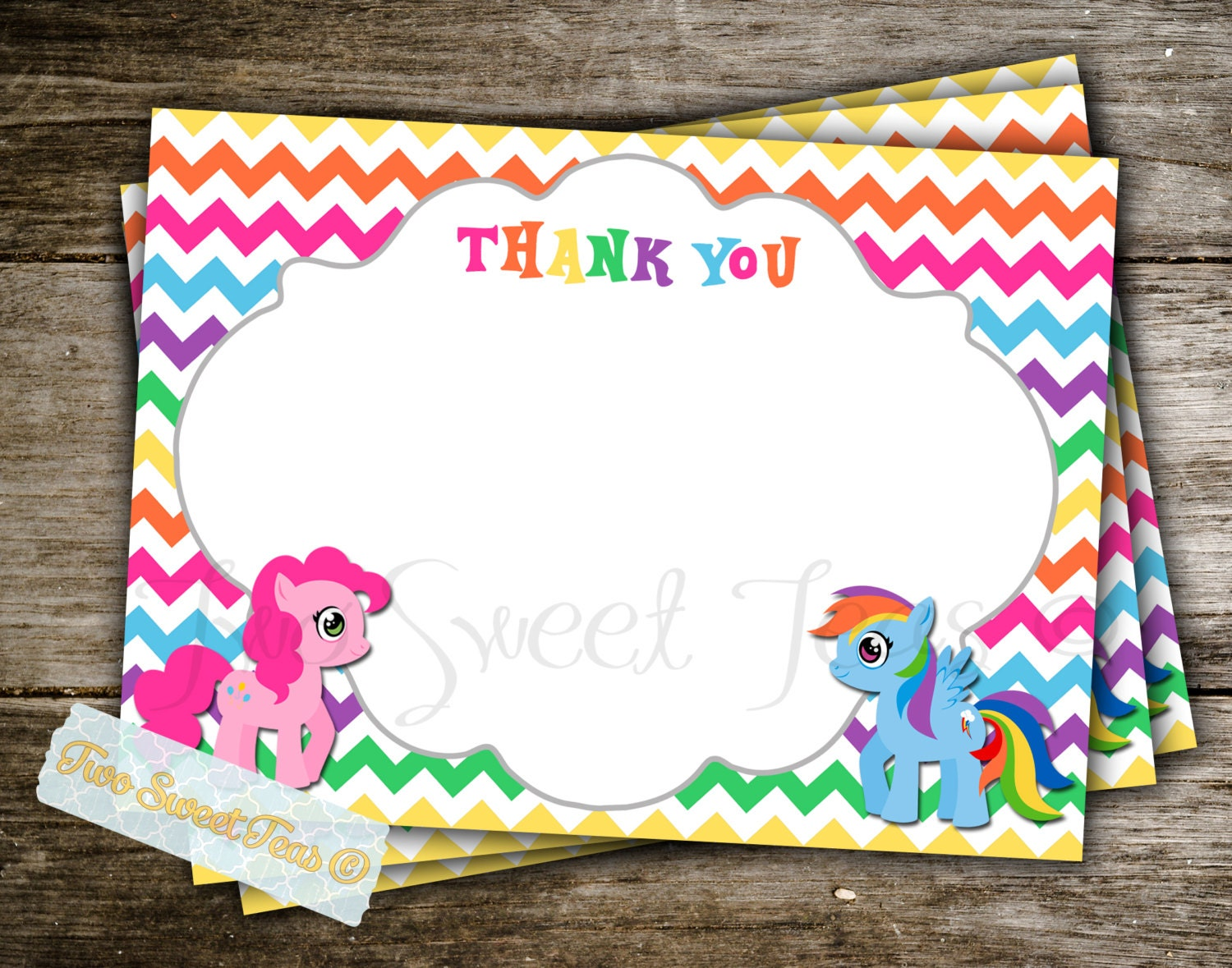 My Little Pony Birthday Thank You Cards