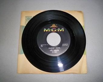 """Vintage 1960's 45 rpm Record """"Lightnin' Strikes"""" by Lou Christie"""