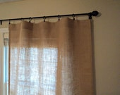 No Odor Burlap Curtains Select your Length Burlap Curtain Panels Rustic Chic Home Decor Custom Sizes Available