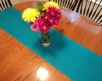 Turquoise Burlap Table Runner Rustic Wedding Decorations Aqua Teal Table Runner Seaside Style Home Decor