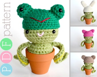 The Reluctant Cactus - Amigurumi Crochet Cactus Animal PDF Pattern