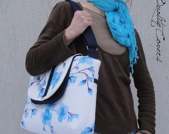 CUSTOMIZABLE color Fabric and Size  Messenger bag with laptop COMPARTMENT and interior Pockets - Super PADDED