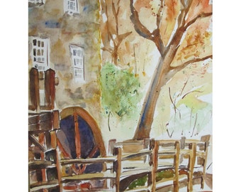 Cooper Gristmill in Chester NJ - An Original Watercolor