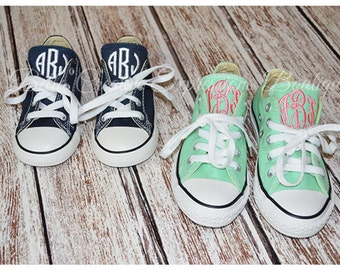 Toddler/Little Kids Monogrammed Converse Shoes